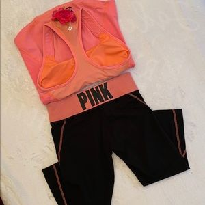 """Pink Lemonade"" Pink Yoga XS & Lululemon Top M"